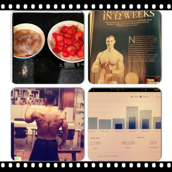 Evening meal/ dessert, HFM Feature, Back progress, Blog stats...