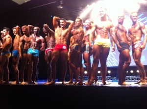 Pose down at the WBFF Denmark