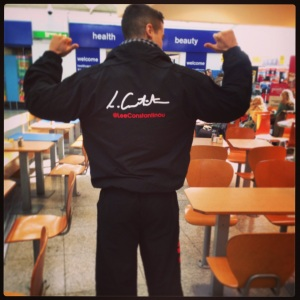 Team GNC branded tracksuit and T-shirt
